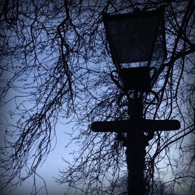 Lamp in Greyfriars Kirkyard by Laura Anderson