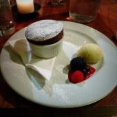 Chocolate dessert at David Banns