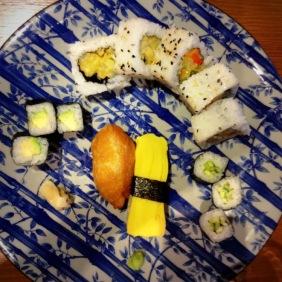 Vegetarian sushi at Tangs